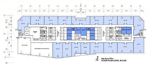 Q Sentral Floor plan Level 30 High Zone