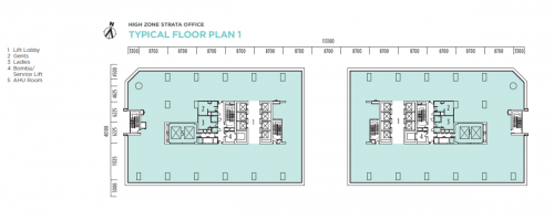 Q Sentral High Zone Strata Office Floor Plan