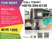 Metro Villa, Ampang (Near LRT Station for rental)